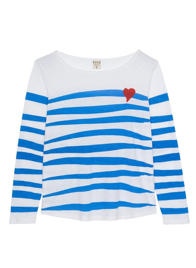 Wavy Stripe Tee - White