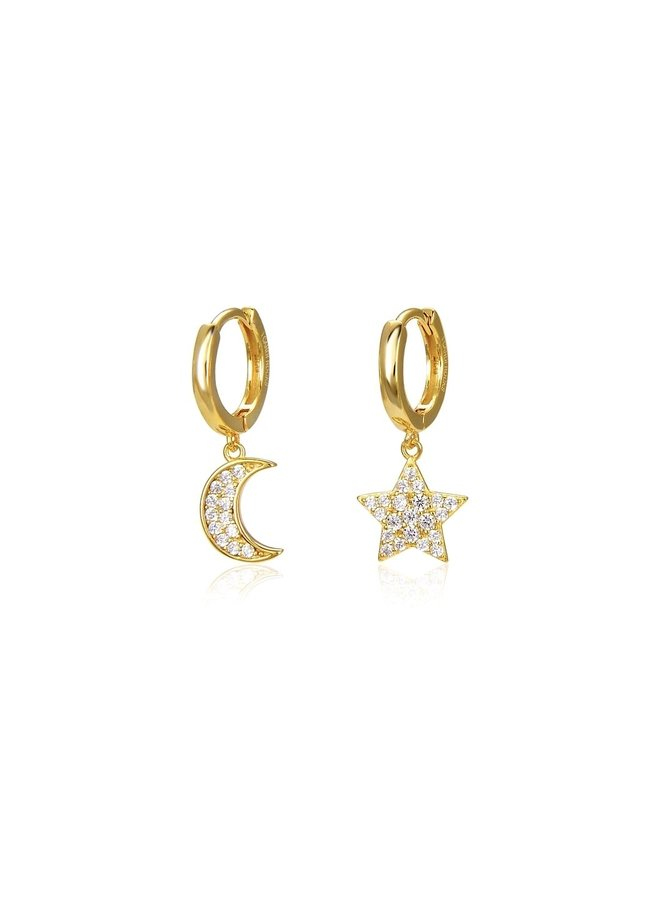 Star and Moon Eternity Huggies - Gold