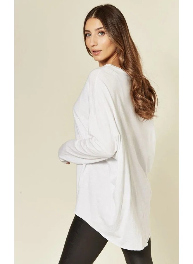 Slouchy Jersey Top - White