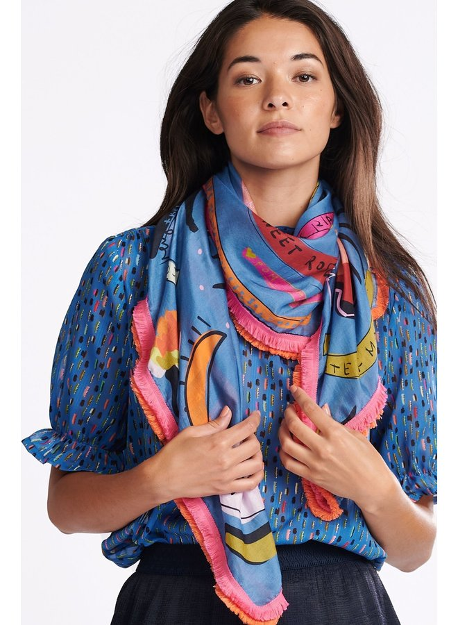 Berry Very Scarf - Colourful Dreams Blue