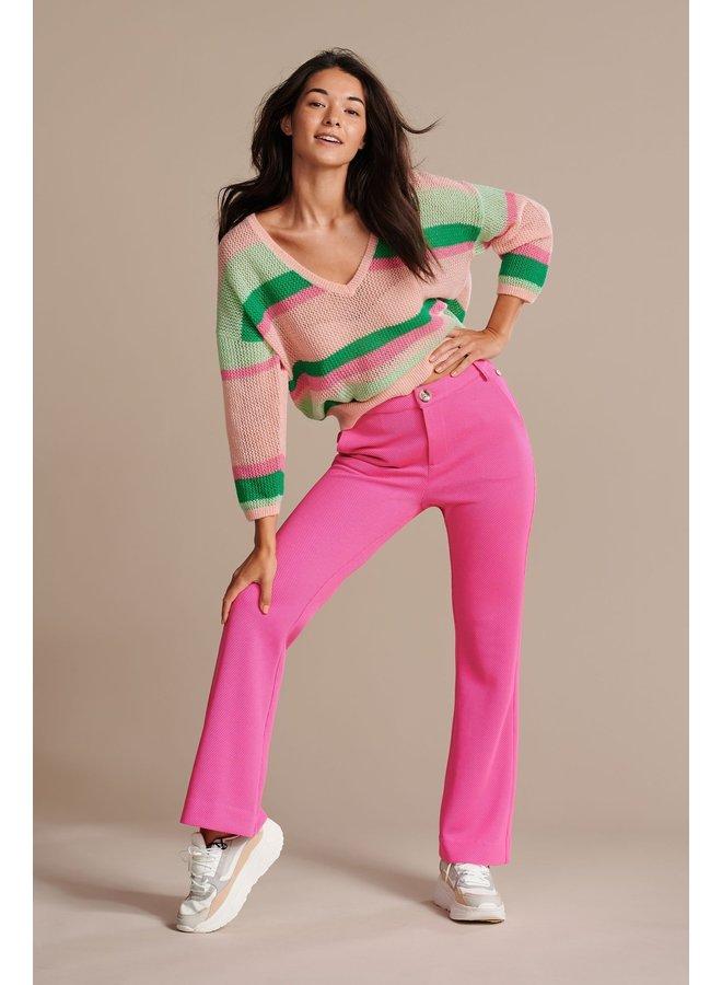 Stripey Knit Pullover - Rainbow