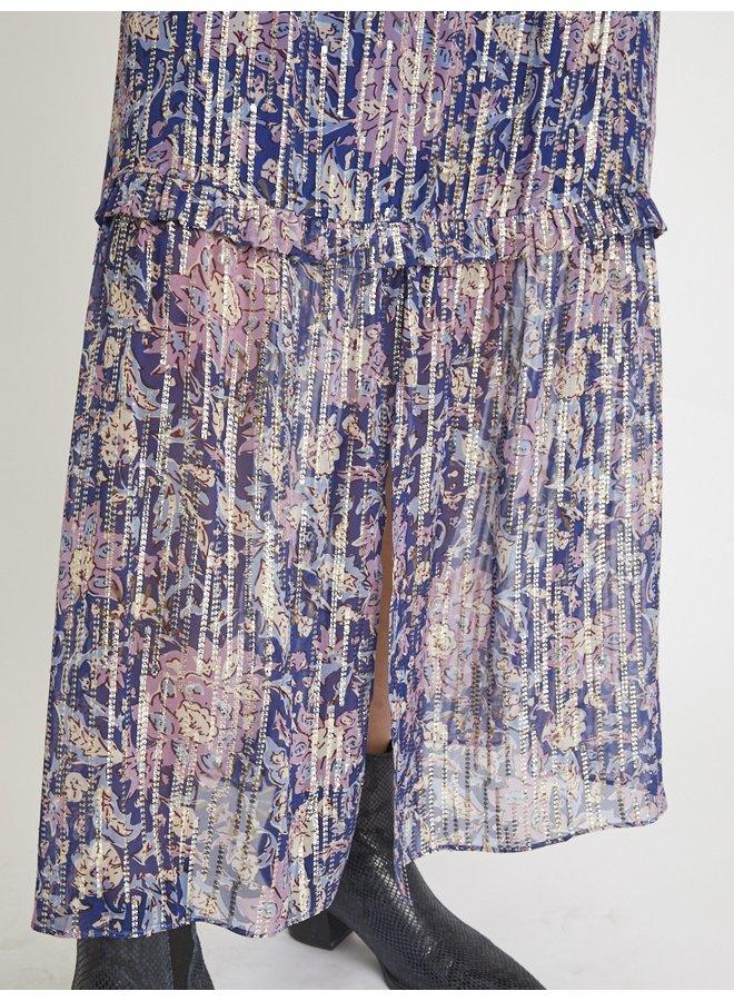 Jome Lurex Maxi Skirt - Blue Giulia