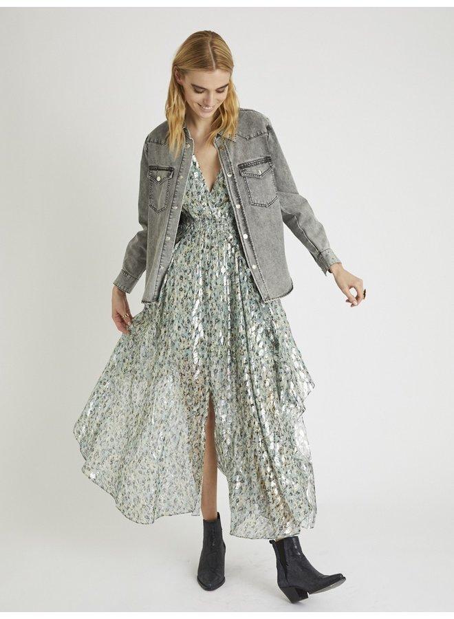 Rayane Lurex Dress - Seven Miles Print