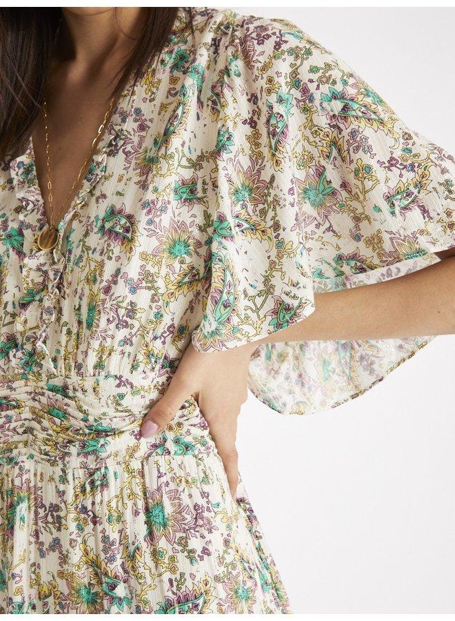 Ready Ruffle Trim Dress - Multi