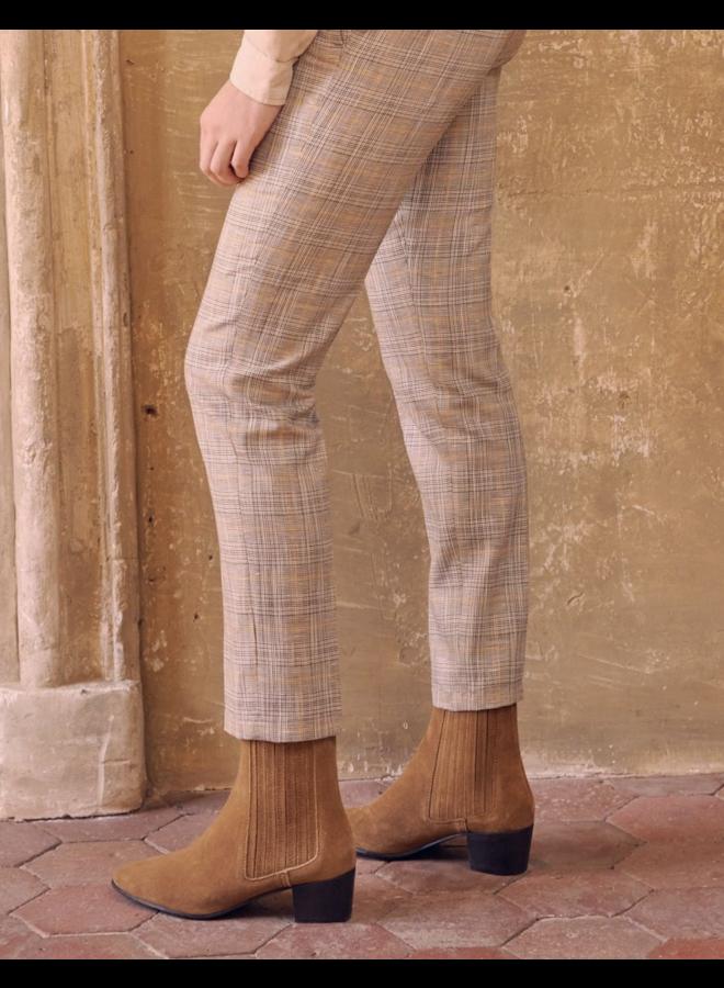 Liv Fancy Pants - Golden Tartan
