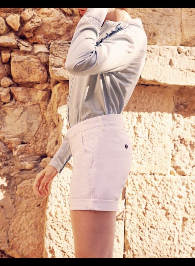 Selena Bermuda Shorts - White