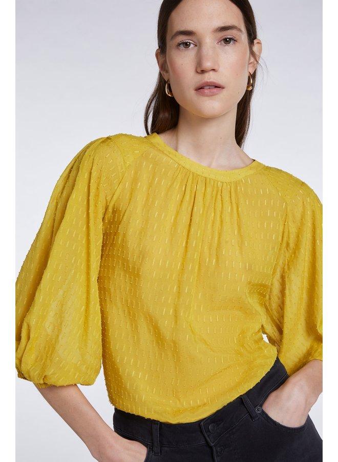 Balloon Sleeve Blouse - Yellow Sun