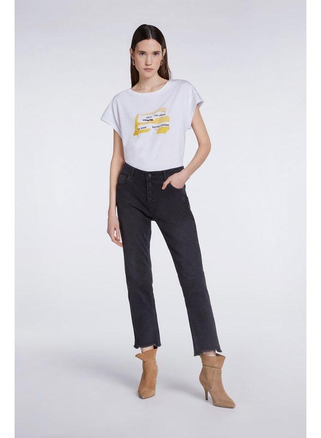 Life's Short T-shirt - Bright White