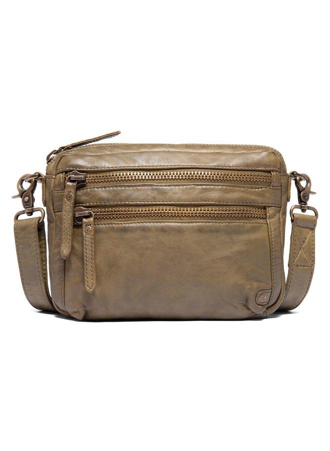 Mini Zip Front Bag - Olive