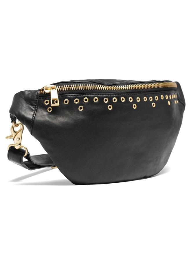 Eyelet Bum Bag - Black