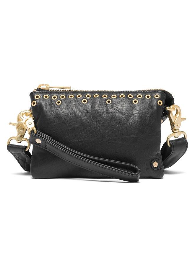 Eyelet Mini Bag - Black