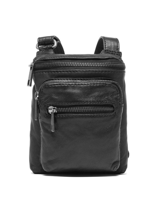 Mobile Bag with Front Pocket - Black
