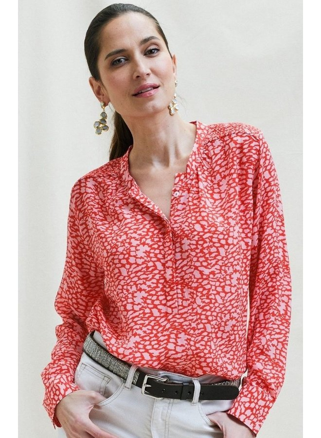 Alianne Lenzing Blouse - Red/Pink