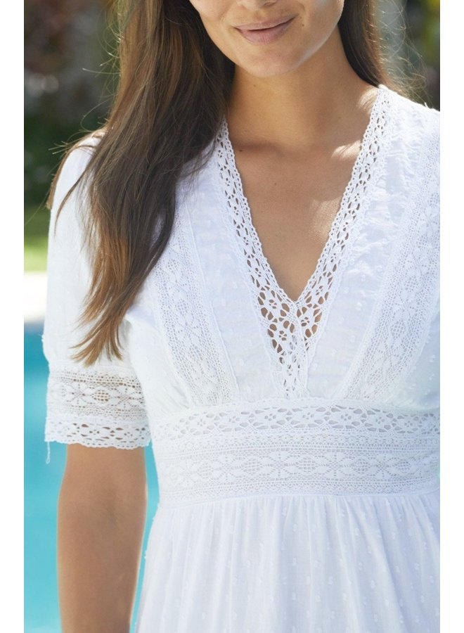 Ruby Midi Dress - White