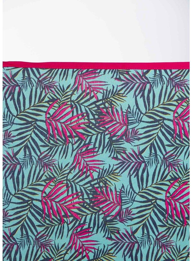 doodiescarf - Palm Print - Turq/Pink