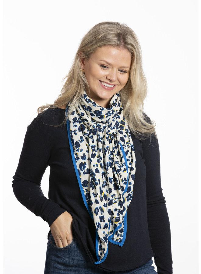 doodiescarf - Floral Leo Print - Navy/Cobalt