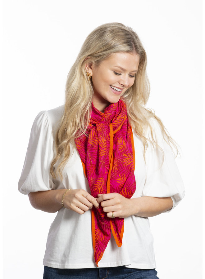 doodiescarf - Palm Print - Pink/Orange