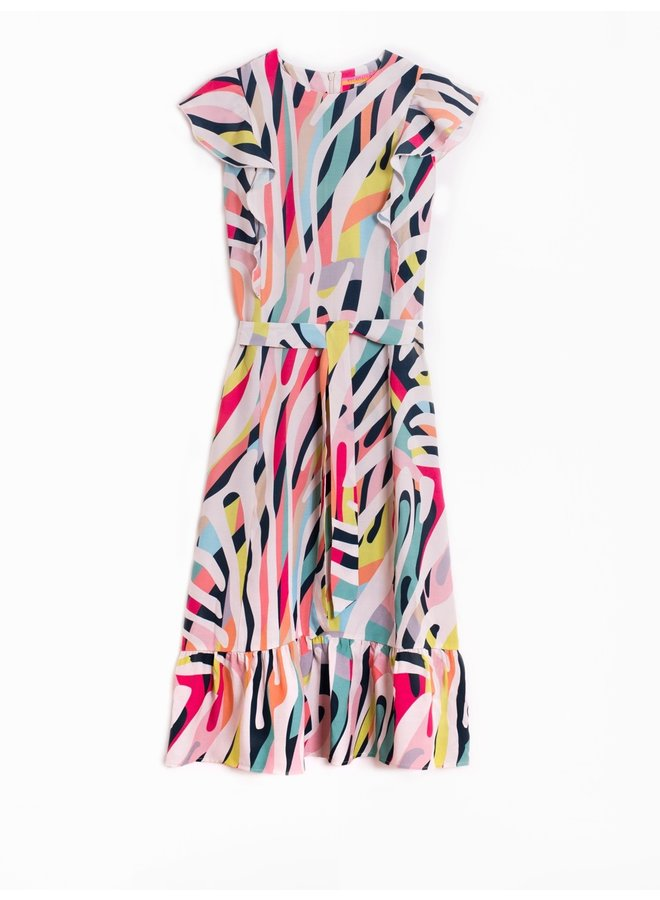 Lorianne Dress - Zebra Multi