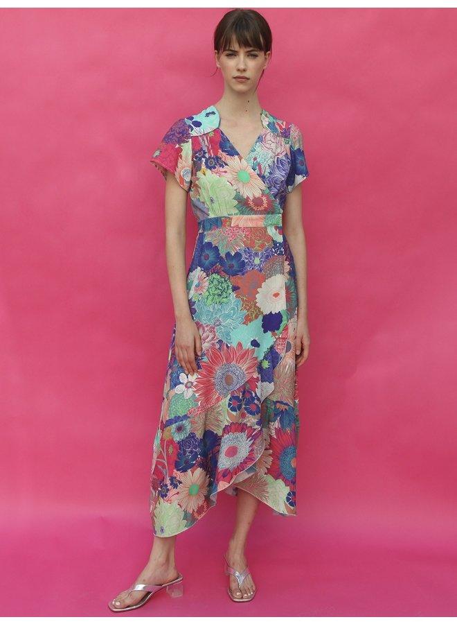 Myrna Wrap Dress - Multi