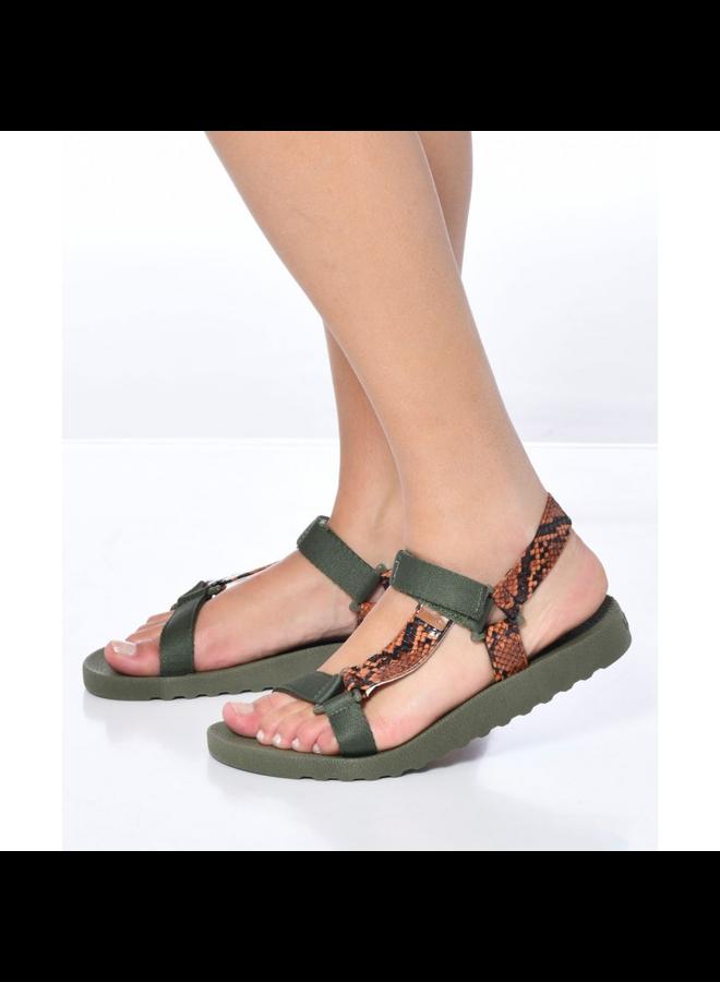 Manaus Sandal - Dark Kaki