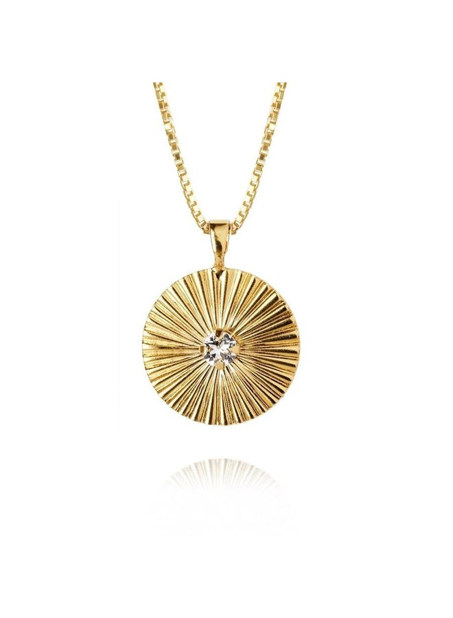 254841 Odessa Necklace Gold Crystal