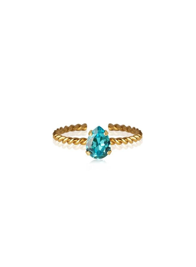 242367 Niki Ring Gold Light Turquoise