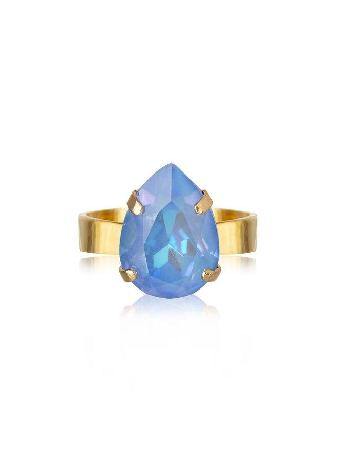254230 Mini Drop Ring Gold Ocean Blue Delite