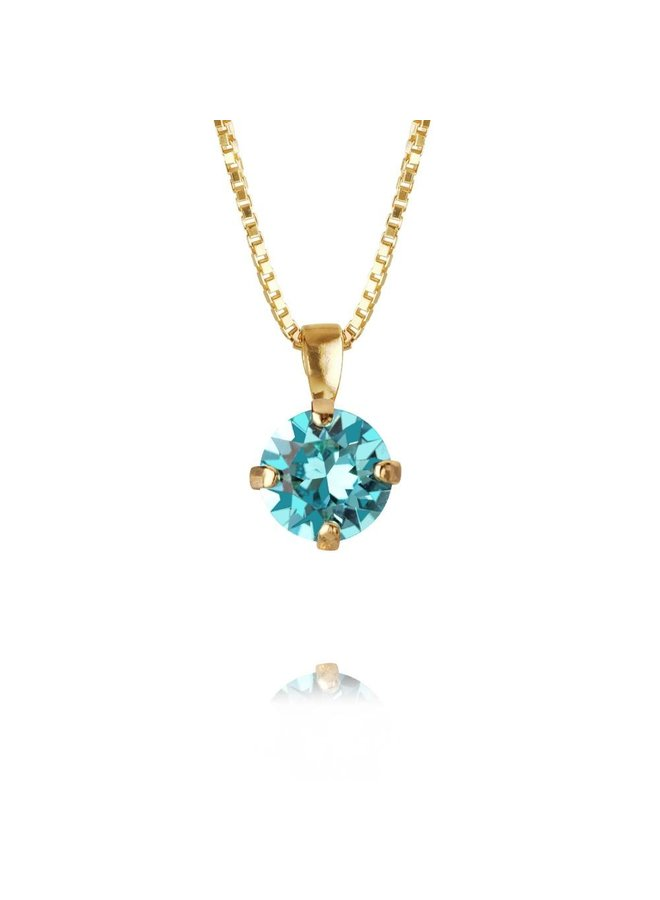 225193 Classic Petite Necklace Gold Light Turquoise