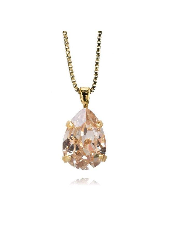 205980 Mini Drop Necklace Gold Silk