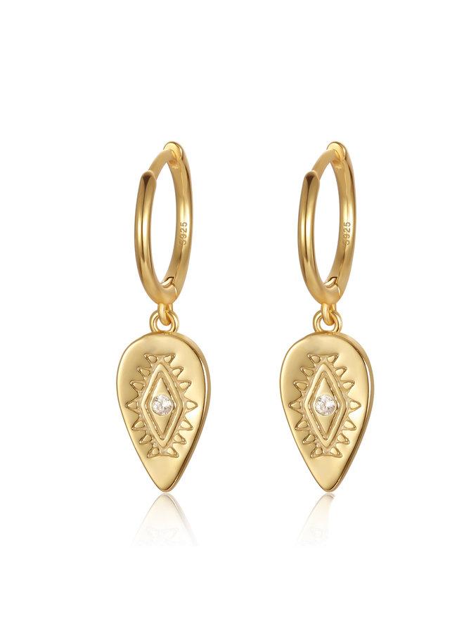 E20015 Angel Eye Earrings - Gold