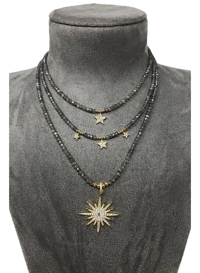 N1178 Lola Star Necklace - Gold