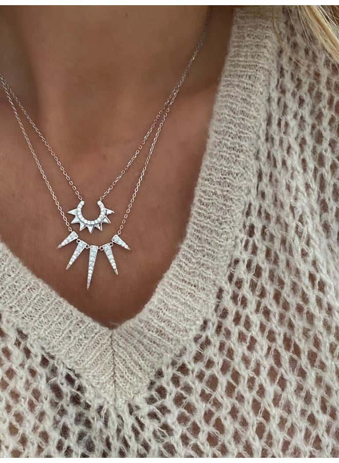 S2118s Sun Downer Necklace - Silver