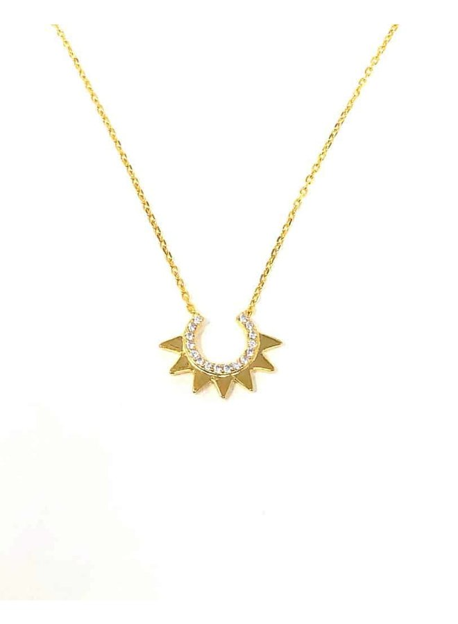 S2118 Sun Downer Necklace - Gold