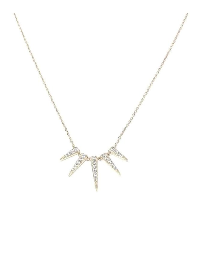 S2419s Sun Ray Necklace - Silver