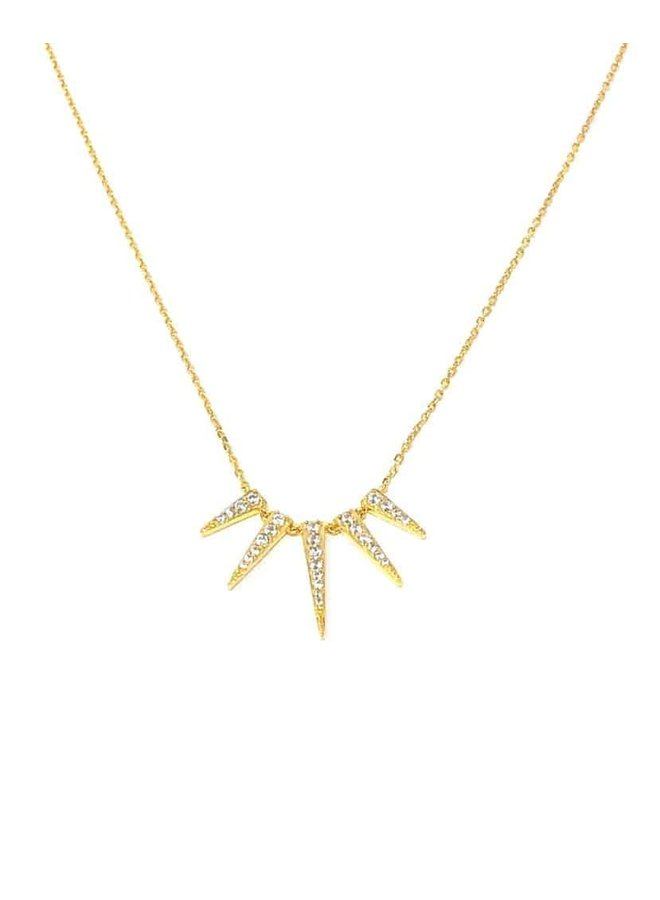 S2419 Sun Ray Necklace - Gold