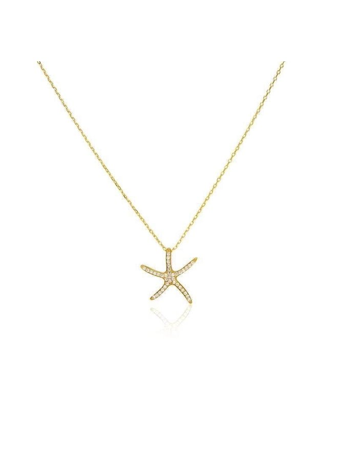 S4318 Starfish Necklace - Gold