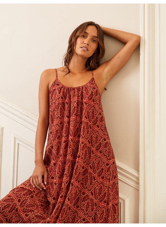 Timeo Dress - Brique