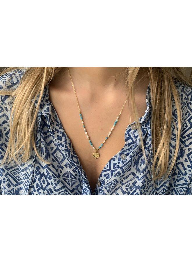 NLMDBLGD Avalon Beaded Necklace - Gold