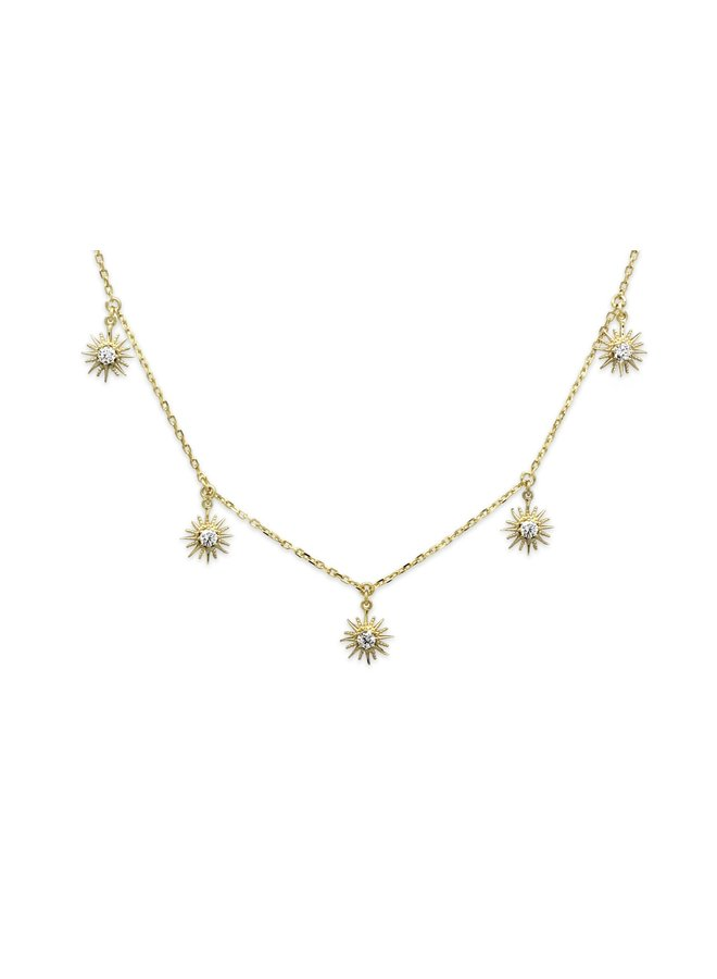 SSNKGDCH Calvados Sunburst Charm Necklace - Gold