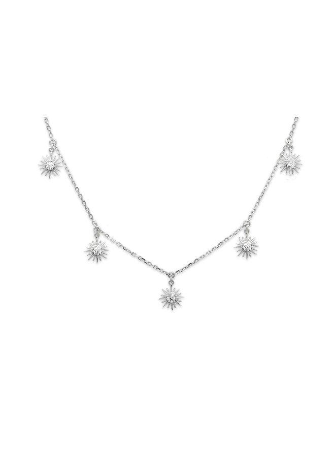 SSNKSVCH Calvados Sunburst Charm Necklace - Silver