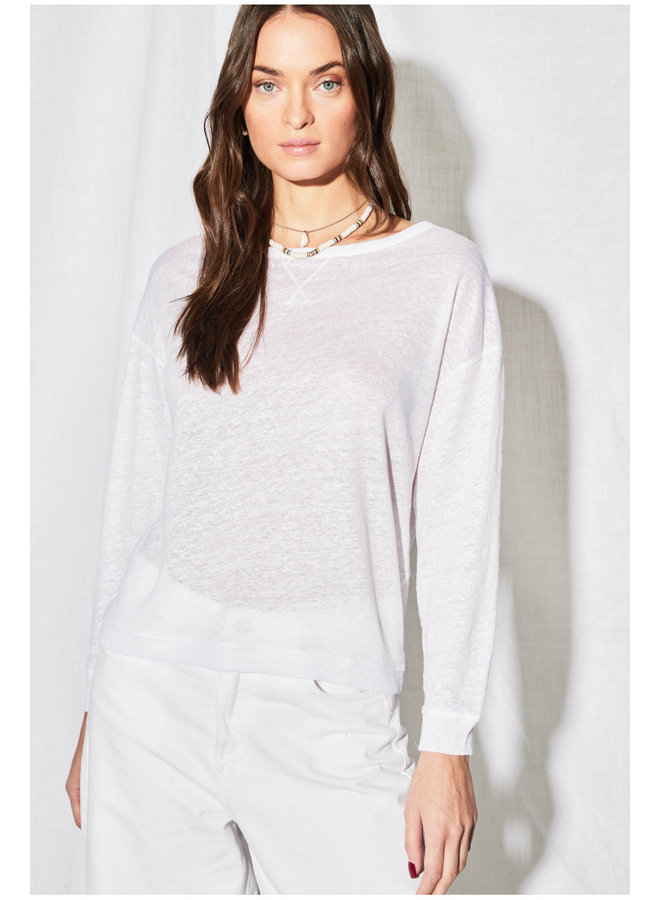 T-Shirt Sweat - Blanc
