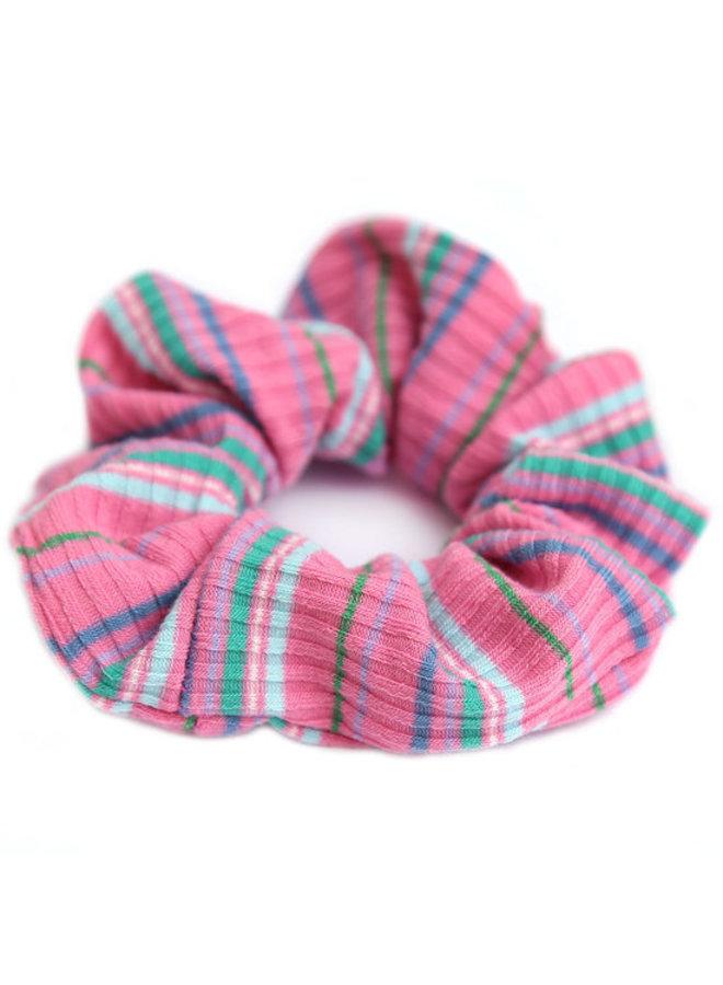Pink Stripe Scrunchie
