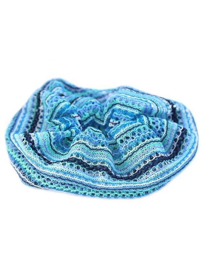Boho Blue Scrunchie