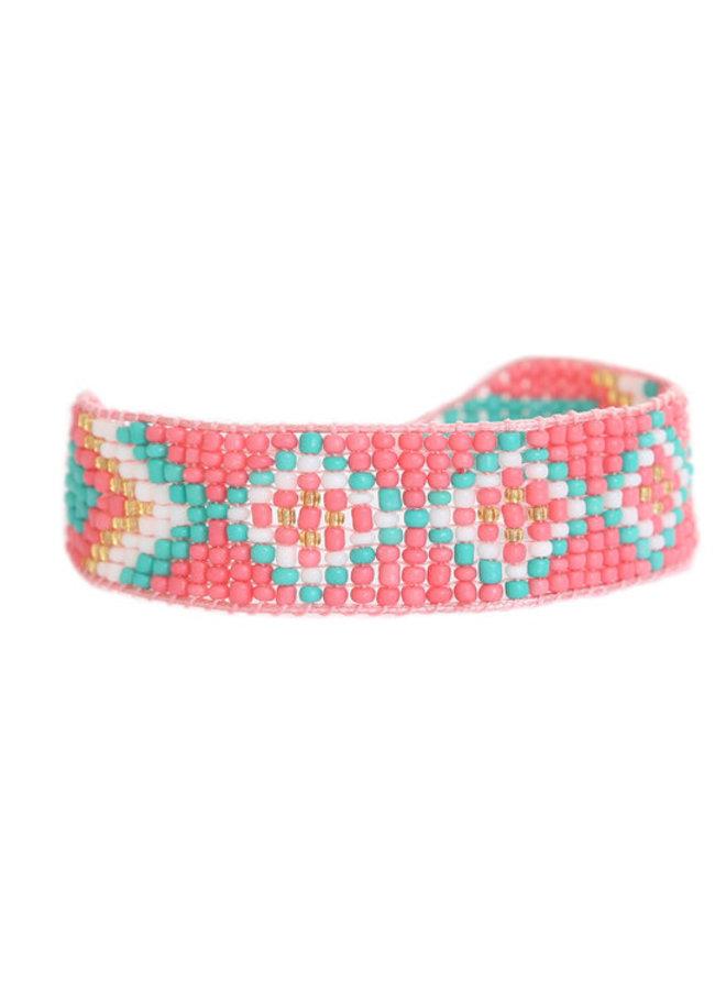 Miyuki Coral Bracelet