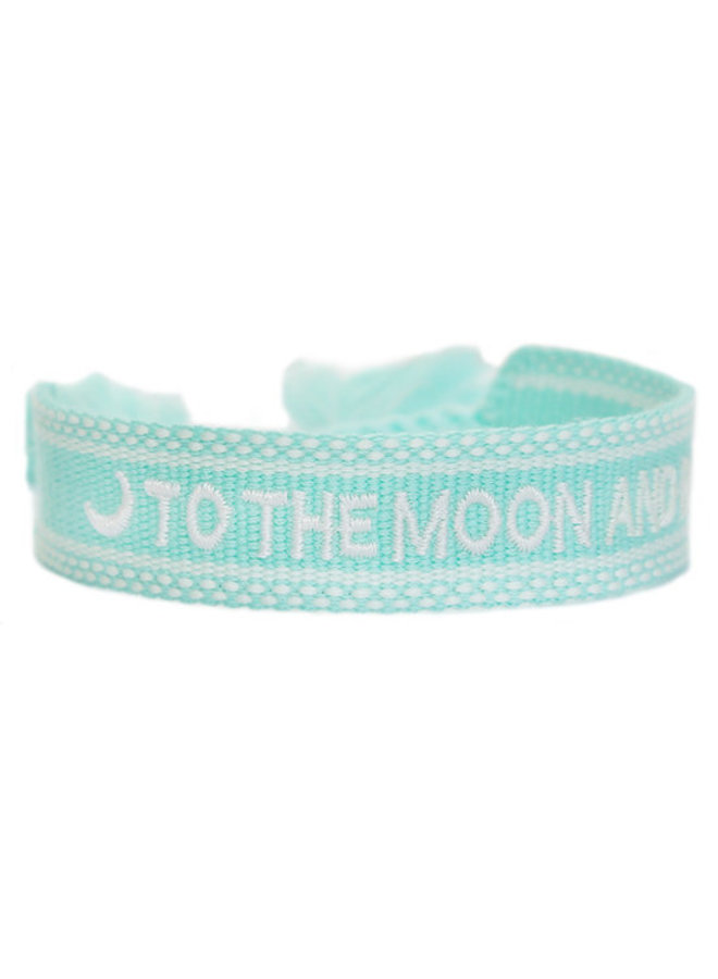 Woven bracelet To the moon and back - Mint