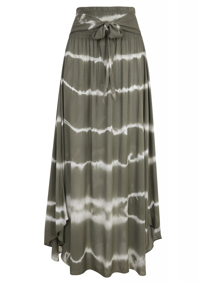 Tie dye skirt - Olive