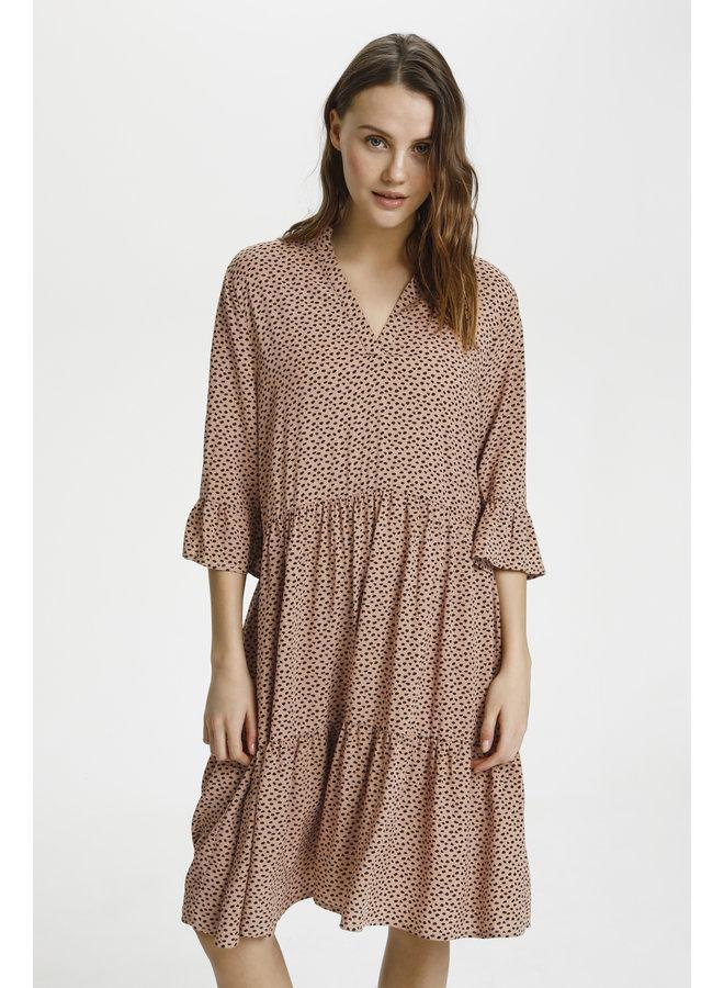 Eda Dress - Tan Pebbles