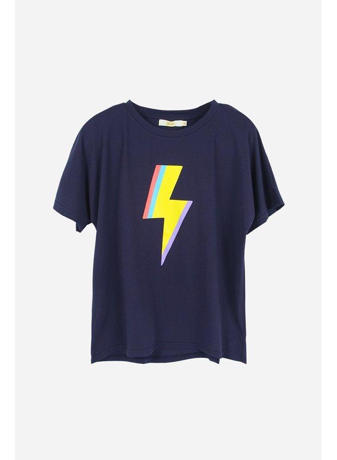 Lightning Bolt Top - Navy