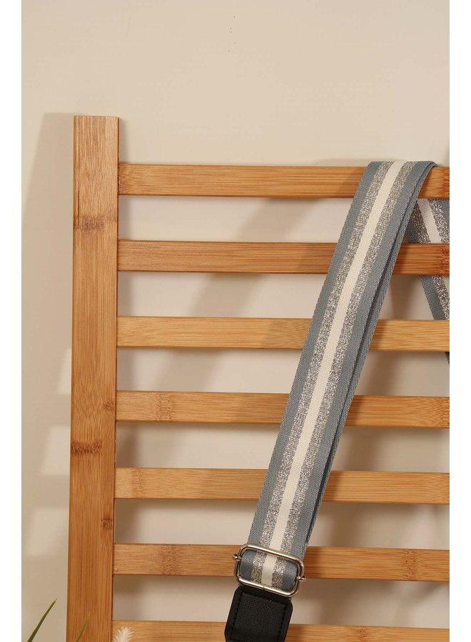 Glitter Stripe Bag Strap - Silver
