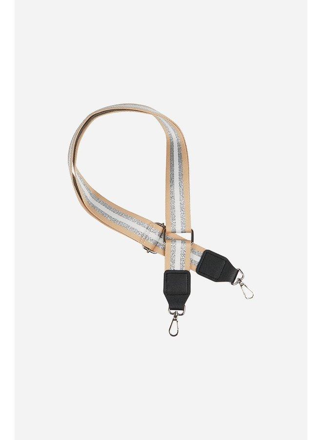 Glitter Stripe Bag Strap - Gold
